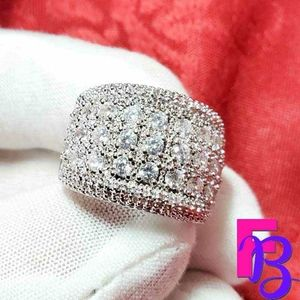 Size 7 8 CT Mens Ring